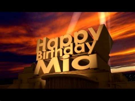 Happy Birthday Mia - YouTube