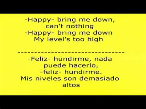 Happy canción letra en ingles y español - YouTube