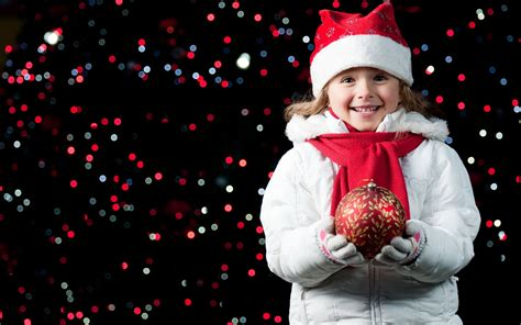 Happy children over Christmas HD photography wallpaper ...