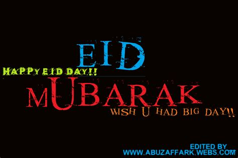 HAPPY EID DAY   Welcome To Typography