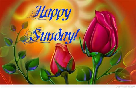 Happy Sunday Flower message