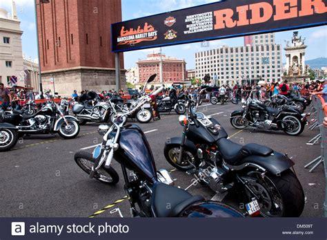 Harley Davidson Meeting in Barcelona, Plaza España ...