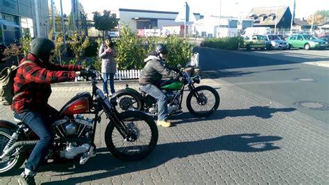 Harley Davidson Panhead & Shovelhead ride - YouTube