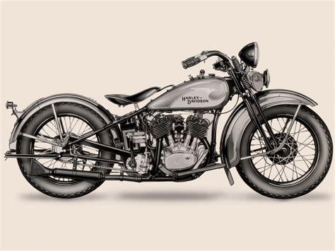 Harley Davidson VL de 1933 con el primer dibujo de un ...