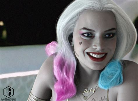 Harley Quinn / Margot Robbie by Dan Roarty   3D Artist