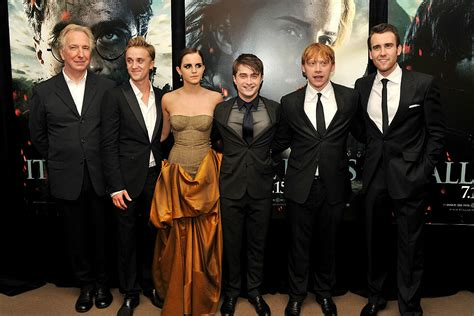 Harry Potter  Stars + Author Fondly Remember Late Alan ...