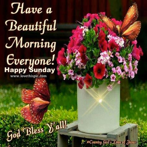 Have A Beautiful Morning, Everyone! Happy Sunday Pictures ...