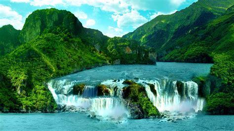 HD Hintergrundbilder berge wasserfälle flüsse tropisch ...