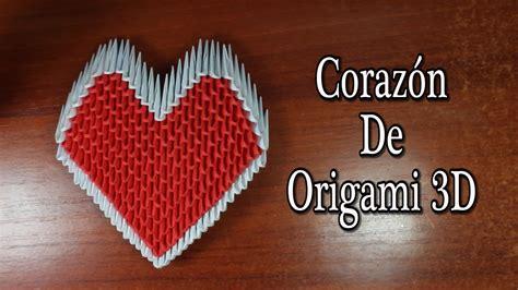 Heart / Corazón De Origami 3D TUTORIAL!   YouTube