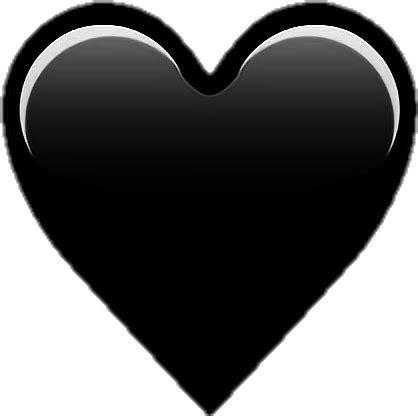 heart emoji blackheart black - Sticker by Soffya.Chu
