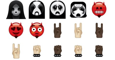Heavy metal emoji keyboard lets you add horns to your messages
