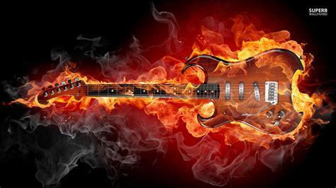 Heavy Metal imágenes Flaming guitarra HD fondo de pantalla ...