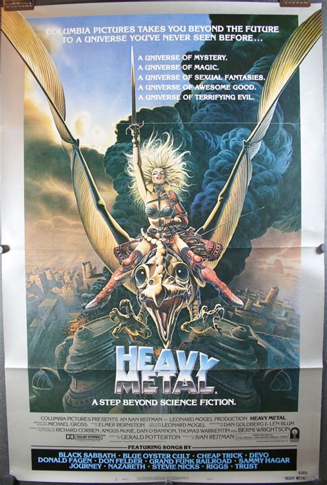 HEAVY METAL, Original Vintage Style A Tri-Fold Movie Poster
