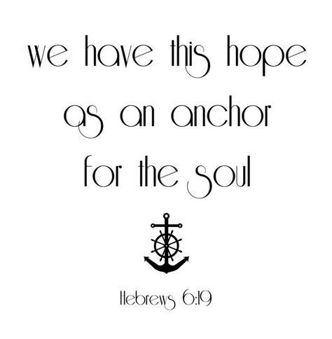 Hebrews 6:19 | Tattoo Ideas - Hebrew 6:19 | Pinterest