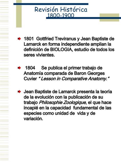 Hechos relevantes en biología 1800-1900