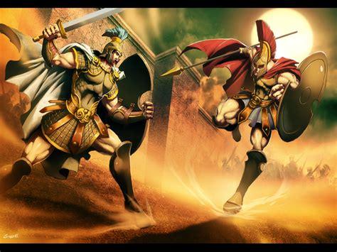 Hector vs Achilles by GENZOMAN on DeviantArt