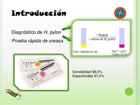 Helicobacter pylori  IgAs y test de ureasa