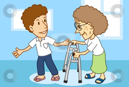 Helping The Elderly Clipart