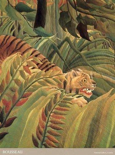Henri Rousseau: Tigre en una tormenta tropical ...