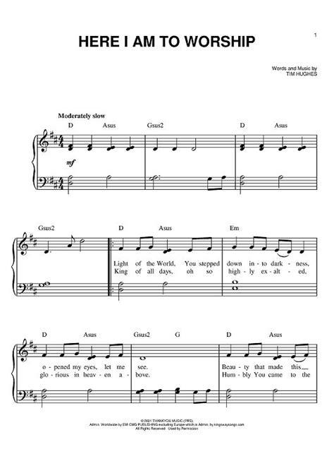 Here I AM to Worship | Here I Am To Worship Sheet Music ...