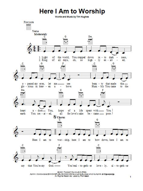 Here I Am To Worship | Sheet Music Direct