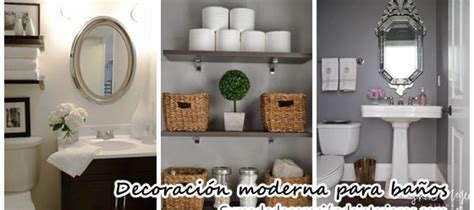 Hermosas ideas para decorar tu baño moderno y elegante ...