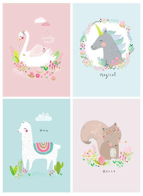 Hermosas ilustraciones infantiles en colores pastel