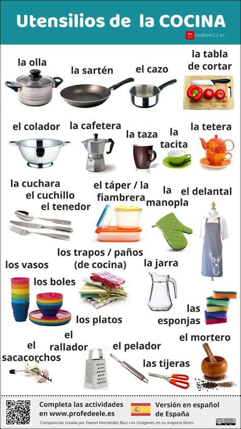 Hermoso Lista De Utensilios De Cocina Imágenes Donde Comer ...