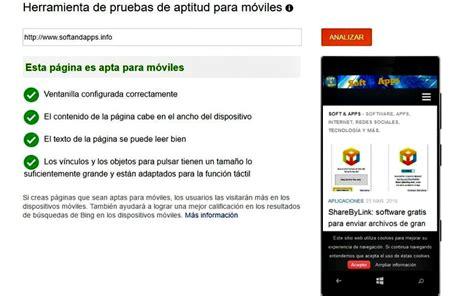 Herramienta de Bing para comprobar si tu web es Mobile ...