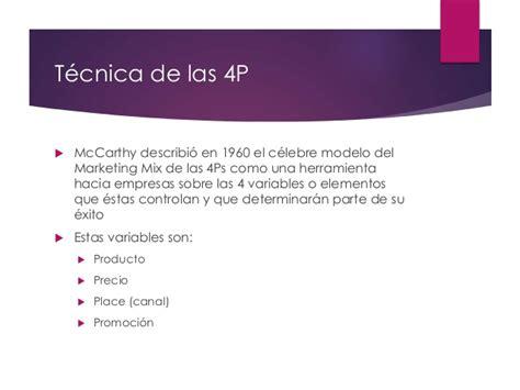 Herramienta de marketing mix (4P y 4C) para empresas y ...