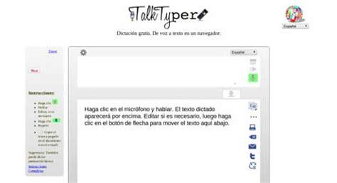 Herramienta para dictar de voz a texto, en español