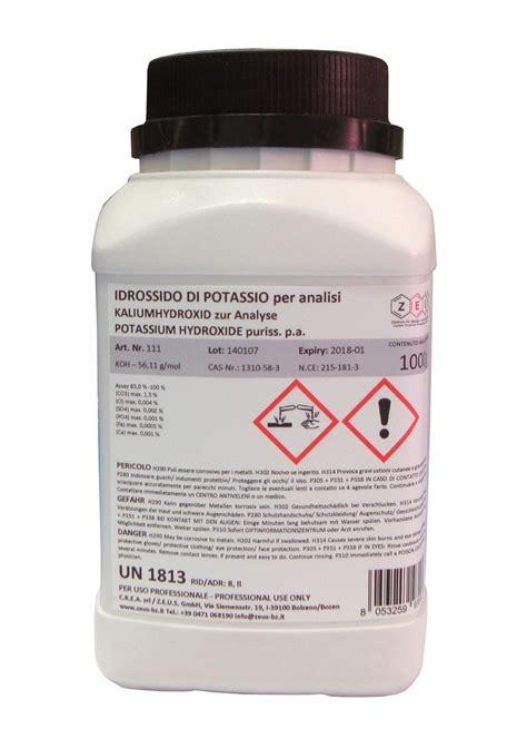 Hidróxido de potasio para análisis (KOH) - 1 kg - venta