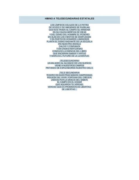 Himno a telesecundarias estatales