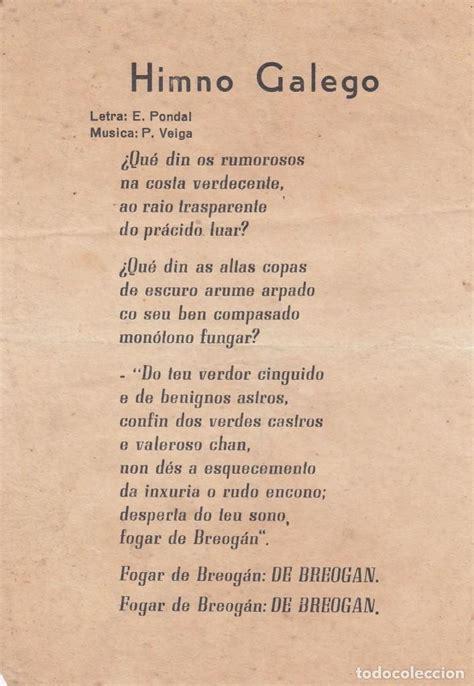 himno galego. letra: e. pondal. música: p. veig   Comprar ...