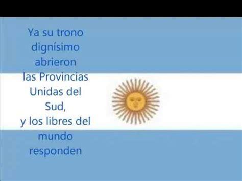 Himno Nacional Argentina Letra High - YouTube