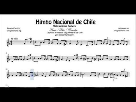 Himno Nacional de Chile Partitura de Flauta   YouTube
