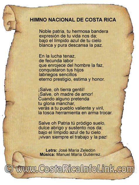 Himno Nacional de Costa Rica   Historia, letra, música, mp3.