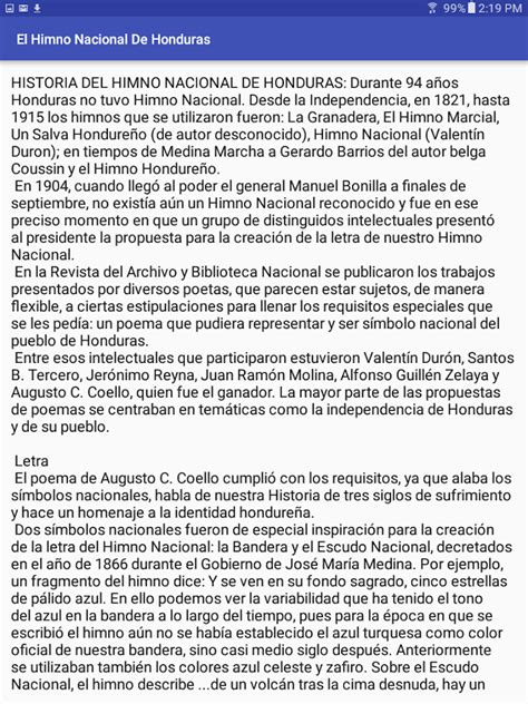 Himno Nacional De Honduras - Android Apps on Google Play