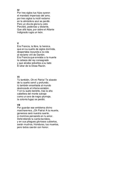 Himno Nacional De Honduras Material De Estudio Del Himno ...