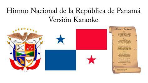 Himno Nacional de la República de Panamá (Versión Karaoke ...