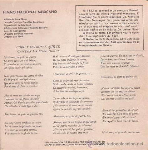 himno nacional de méxico 1960   Comprar en todocoleccion ...