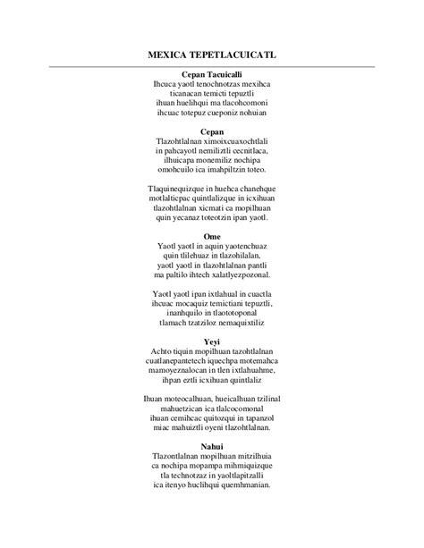 Himno nacional en nahual