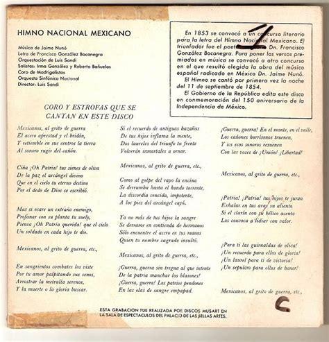 Himno Nacional Mexicano Ep Luis Sandi Irma Gonzalez ...