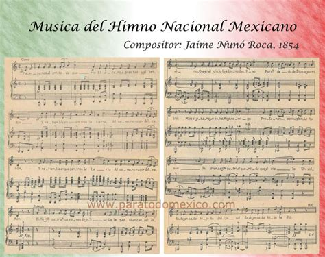 Himno Nacional Mexicano – Historia y Letra Completa del ...
