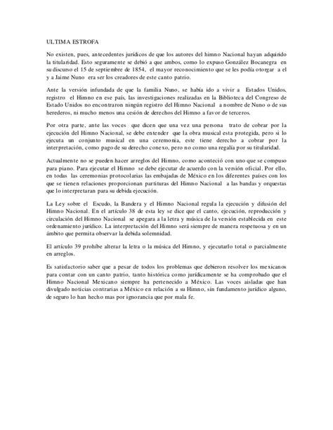 Himno nacional: Mexico dueño y señor