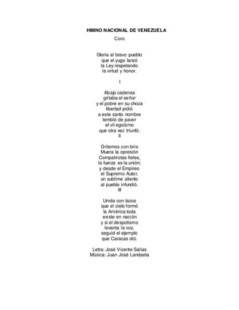 Himnos de venezuela