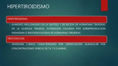 hipertiroidismo. hipotiroidismo