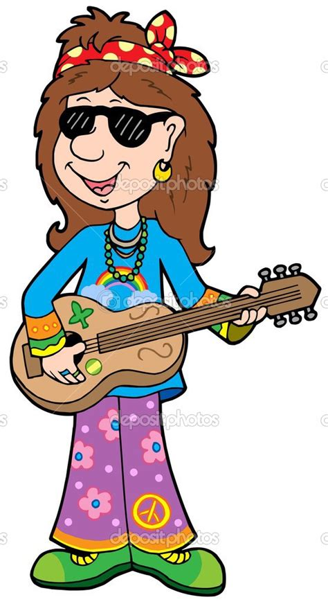 Hippie Cartoon Clipart