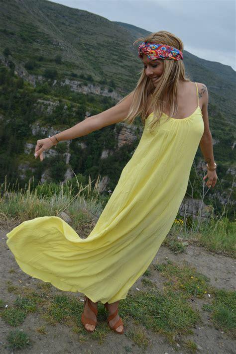 Hippie-Chic: Vestido largo y turbante | Con el micro y en ...