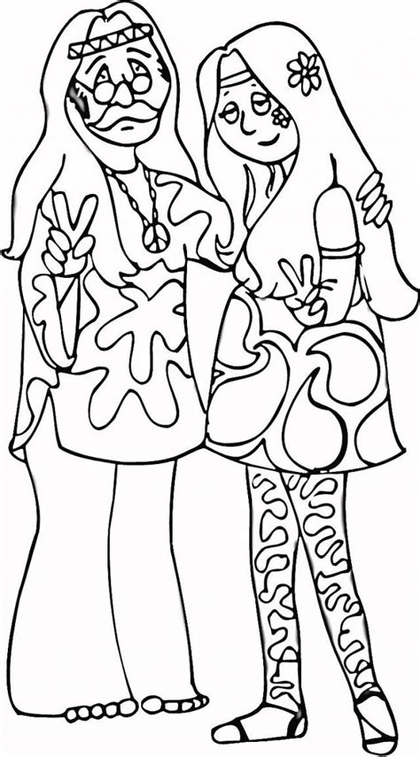 Hippie Coloring Pages - Coloring Home